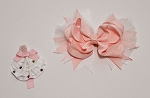 Hair bow Grosgrain w/2nd Clip