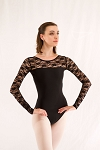 Lace Long Sleeve Leotard