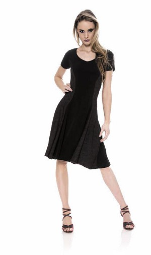 So Danca Short Sleeve Dress with Lace B656