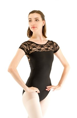 Lace Short Sleeve Leotard