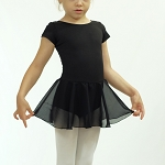 Basic Short Sleeve Skirted Leotard